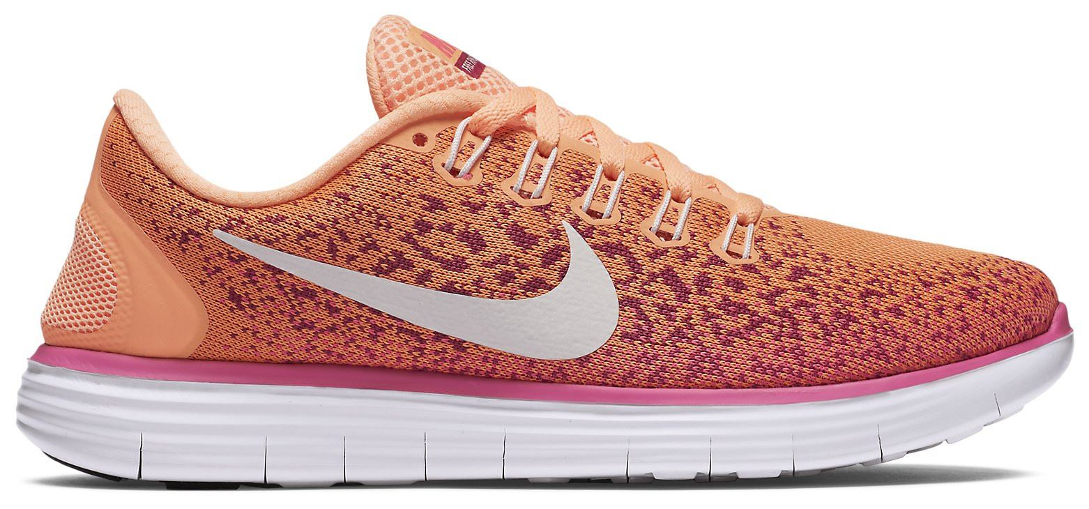 63f55cd4a9b6 Details about NIKE FREE RN DISTANCE 827116 800 WOMEN S ORANGE   PINK UK 4-6