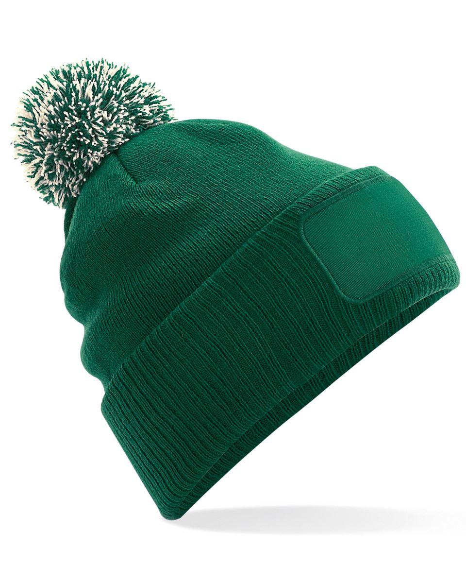Personalised Unisex Printed Beanie Hat Custom Name Logo Pompom ... 12e57a02779