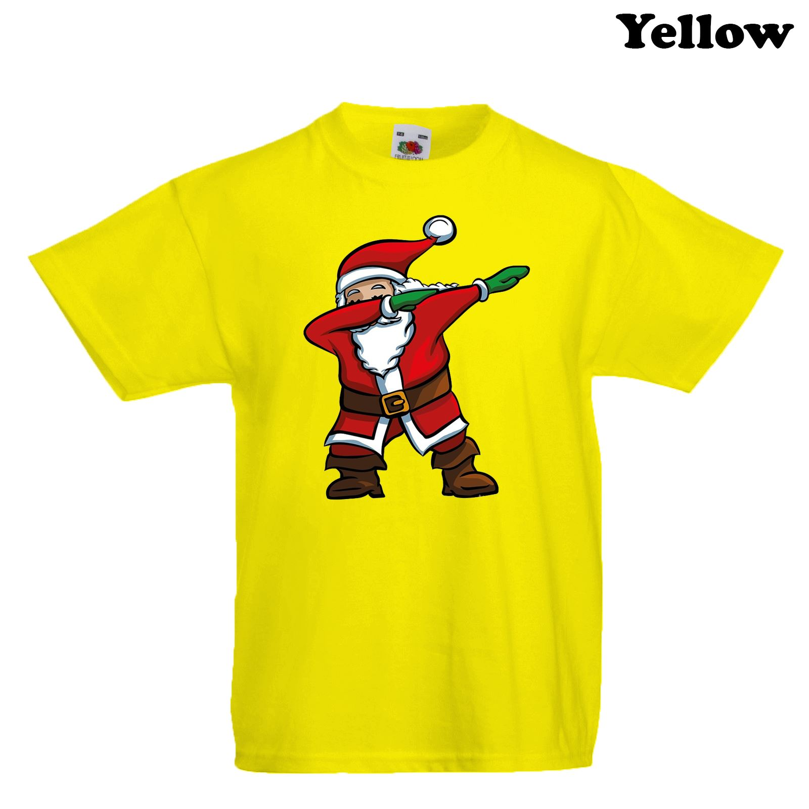 New Kids Boys Girls Christmas T-Shirt Funny Xmas Santa Dab Dabbing ...