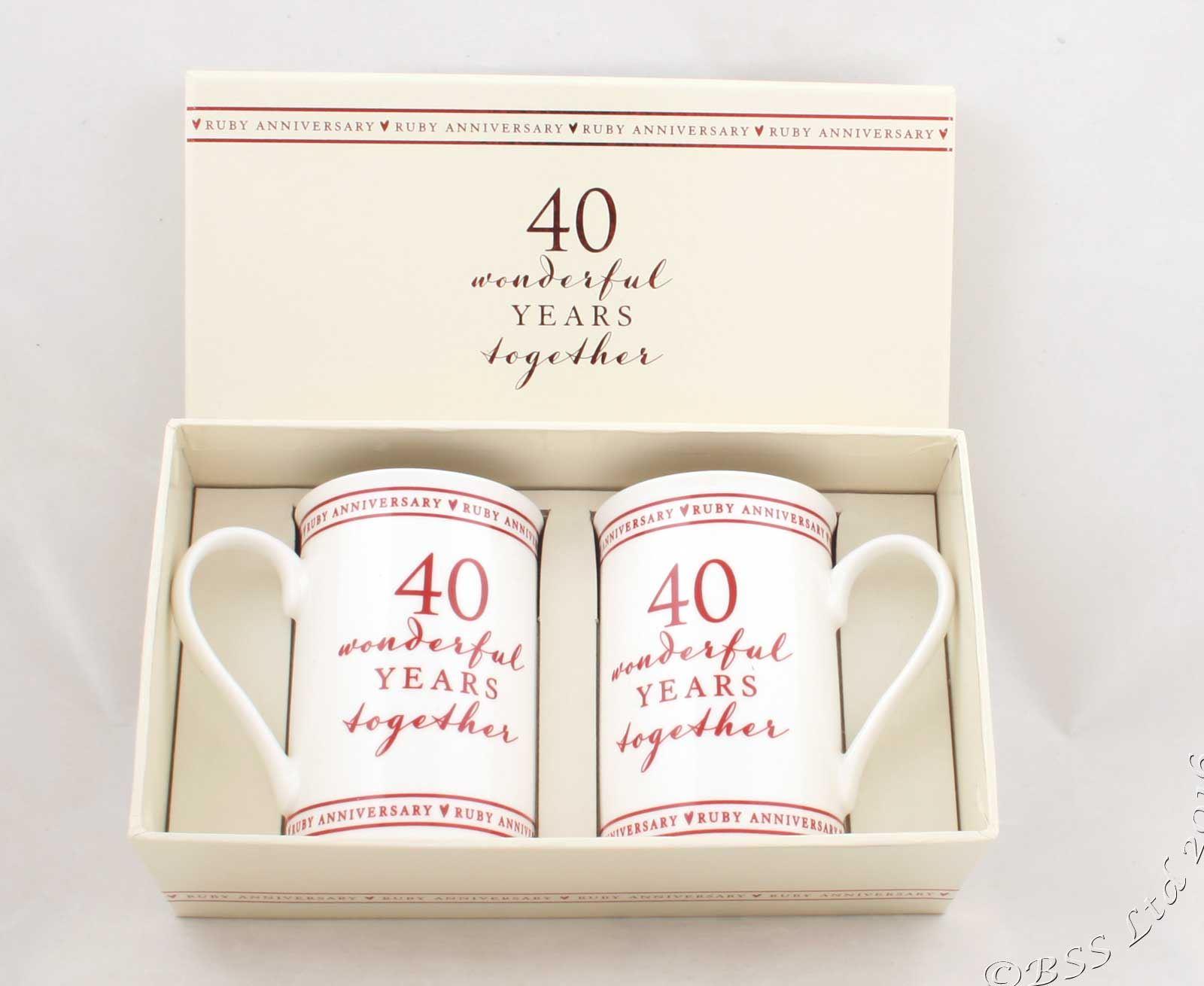 Wedding Anniversary Mugs Gift Set 10th 25th 30th 40th 50th 60th | eBay
