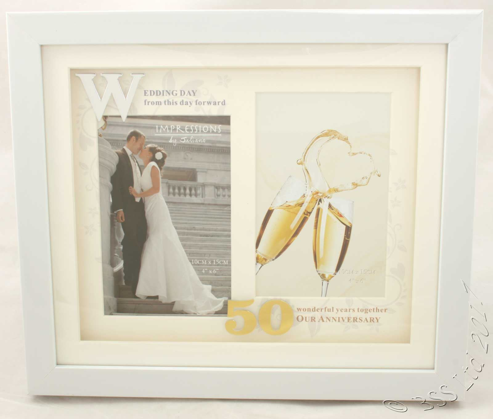 Impressions by Juliana 50th Anniversary Wedding White Photo Frame ...