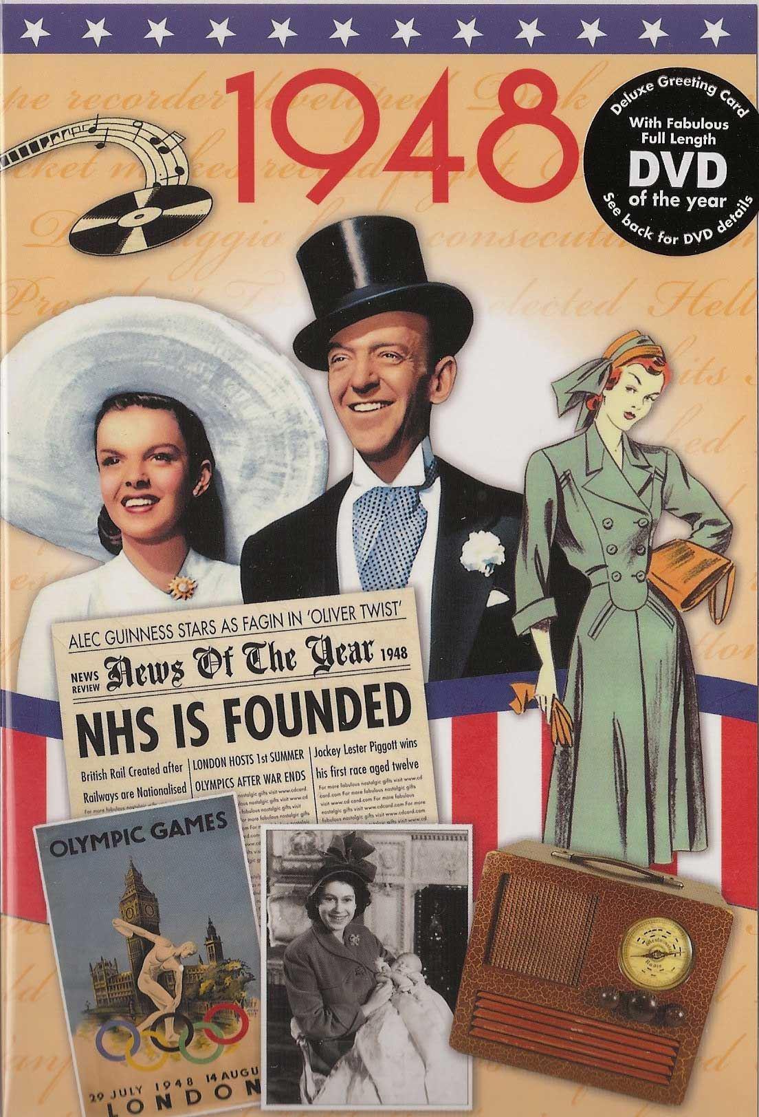 70th Platinum Wedding Anniversary Gift Reminisce 1948 With Dvd