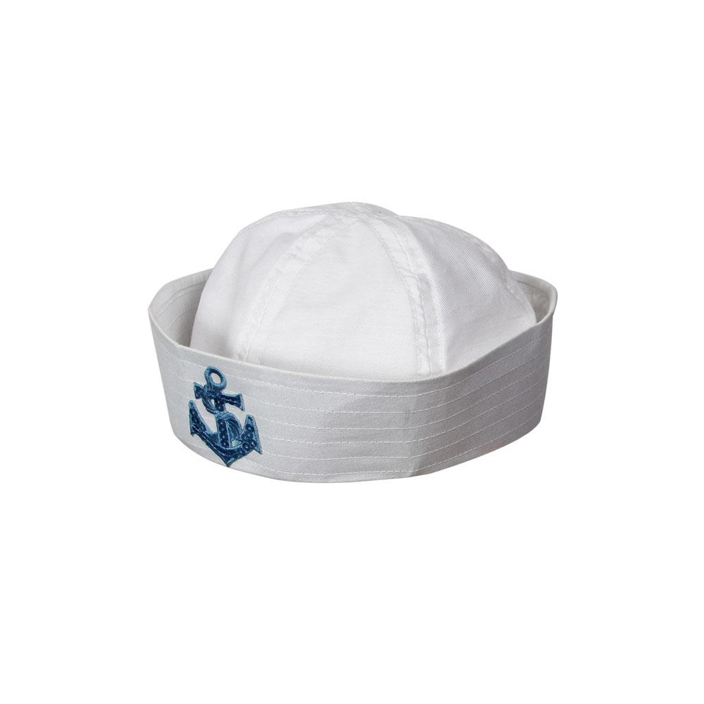 White Sailors Hat Doughboy Size Large 59//60cms NEW Popeye Style Fancy Dress