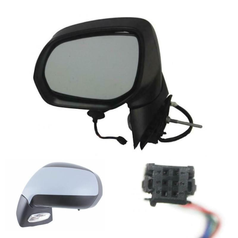 /> Powerfolding Wing Door Mirror Primed Cover Drivers Side For Peugeot 3008 09