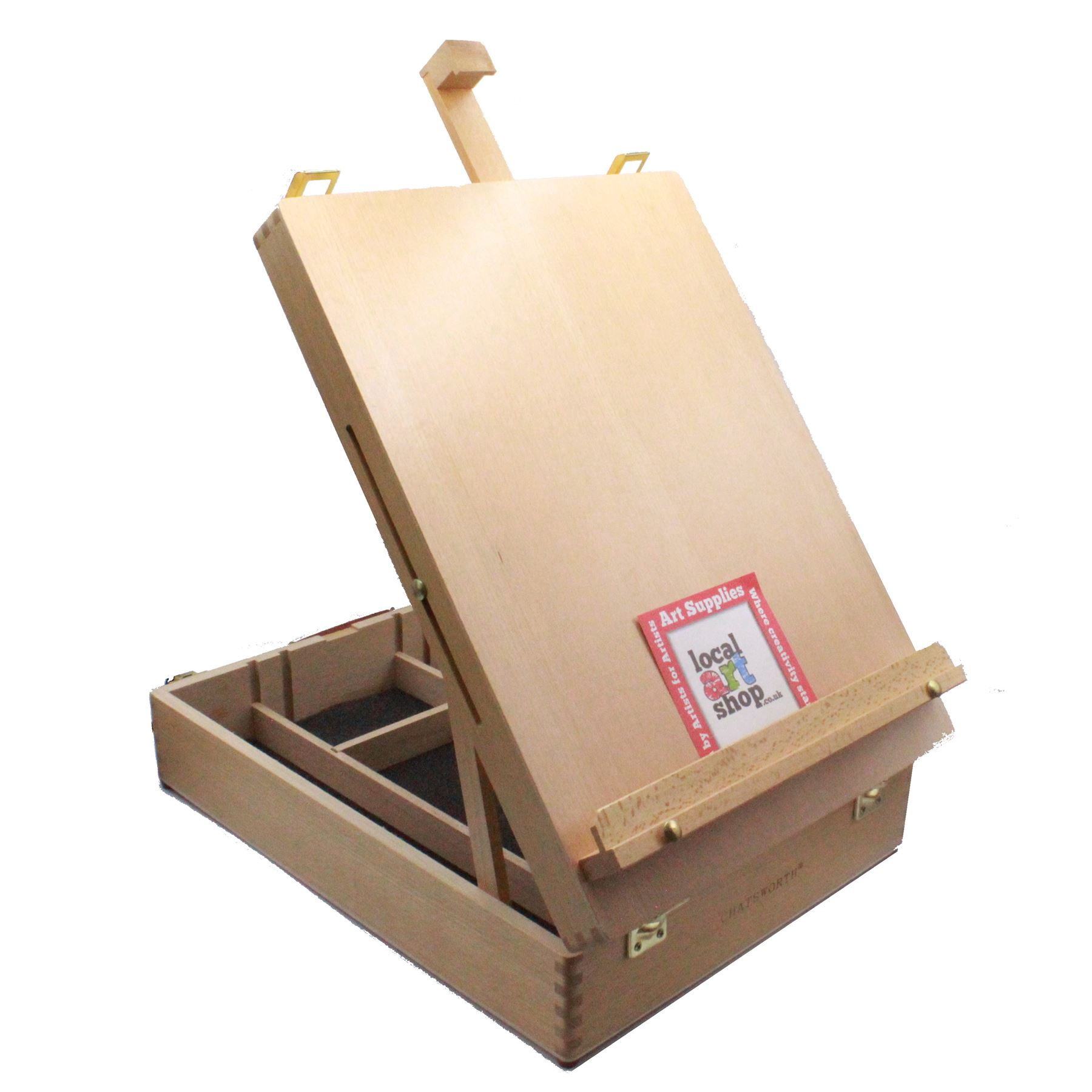 Loxley Chatsworth Earl Artists Table Easel Storage Box pastels oil acrylic paint