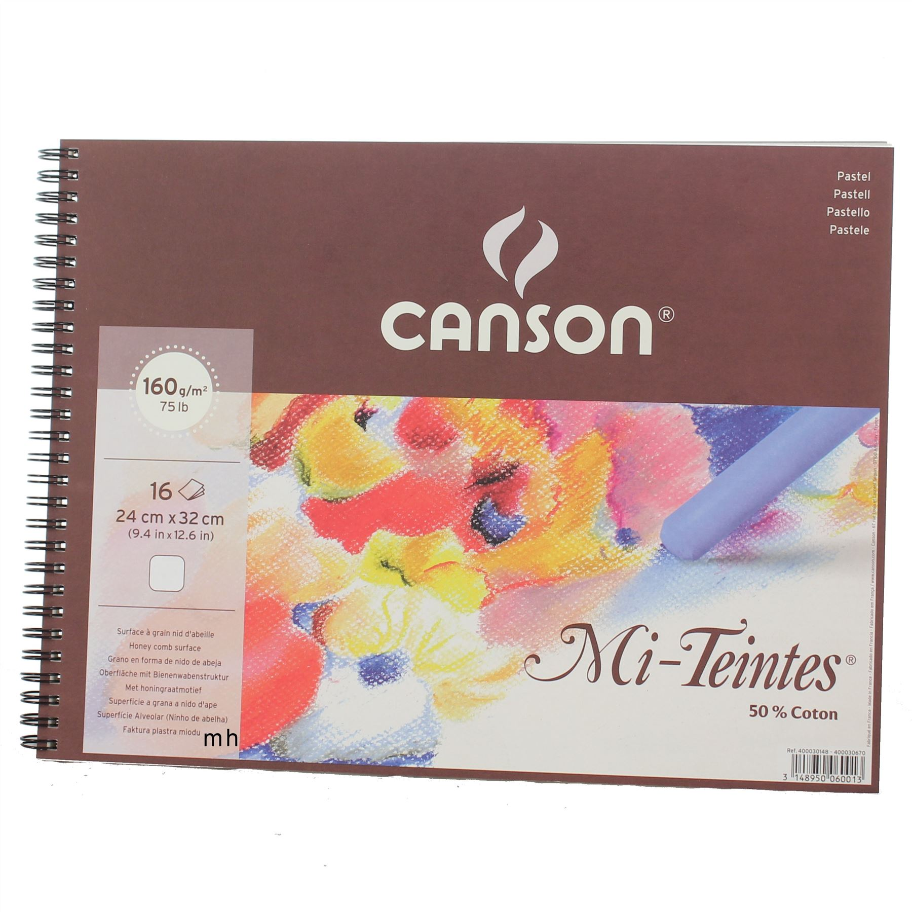 Canson-Mi-Teintes-Artists-Pastel-Paper-160gsm-Pads-Grey-Eart-White-Black-Tone