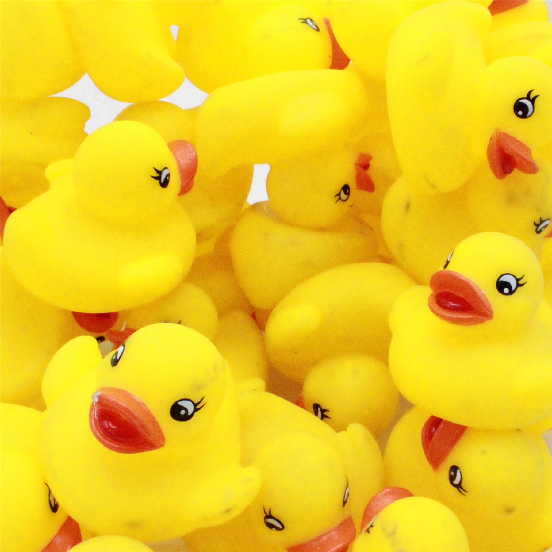 4x Baby Rubber Duck Bath Toys 5cm Small Yellow Ducks | eBay