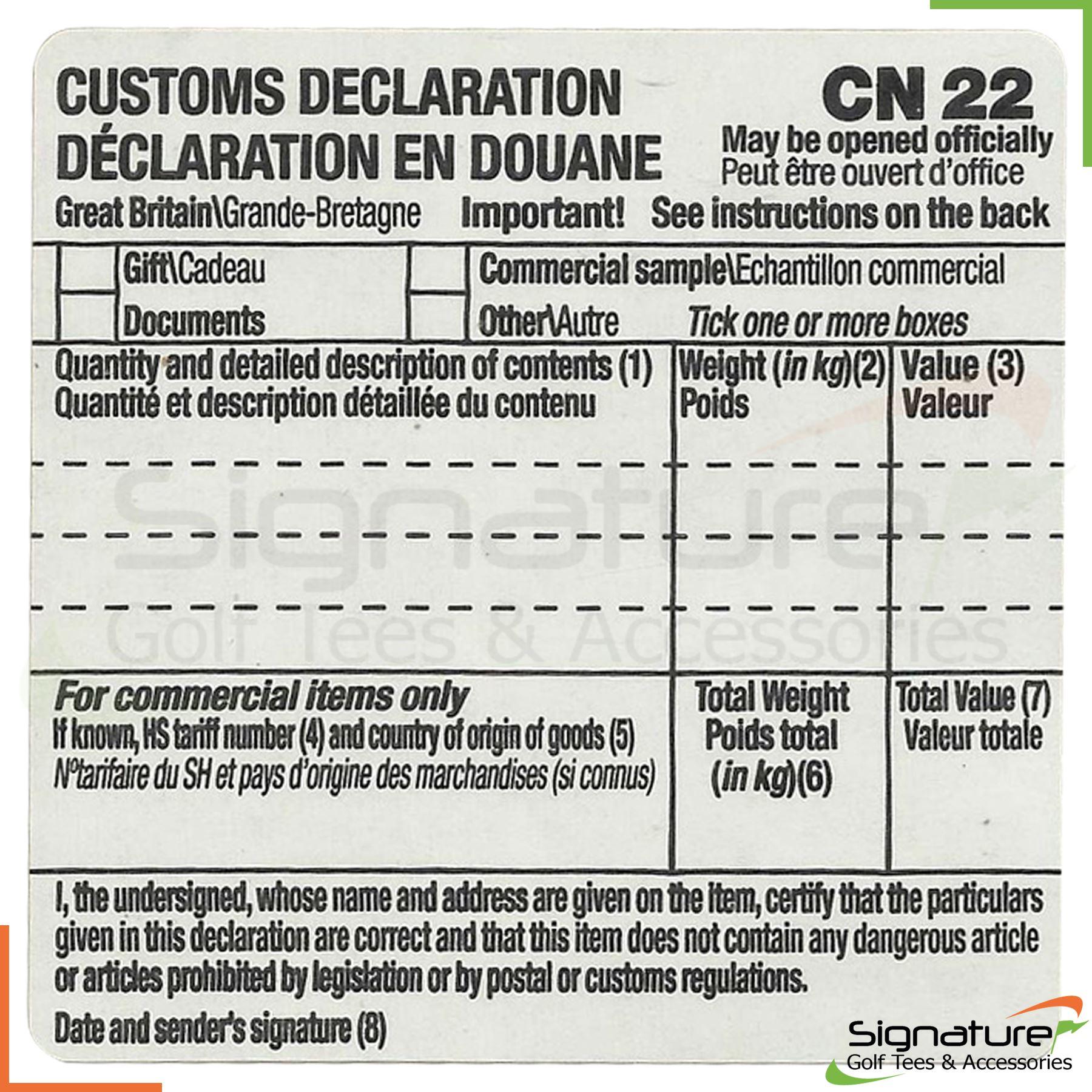 Self adhesive customs declaration forms label cn22 royal mail self adhesive customs declaration forms label cn22 royal mail various qtys ebay falaconquin
