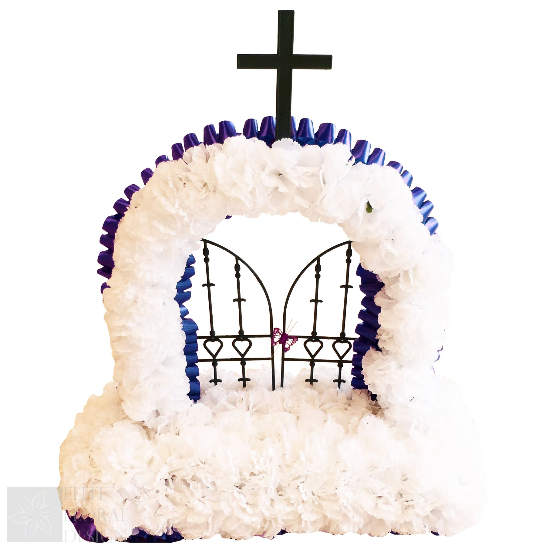 Artificial silk funeral flowers gates of heaven wreath ribbon artificial silk funeral flowers gates of heaven wreath izmirmasajfo