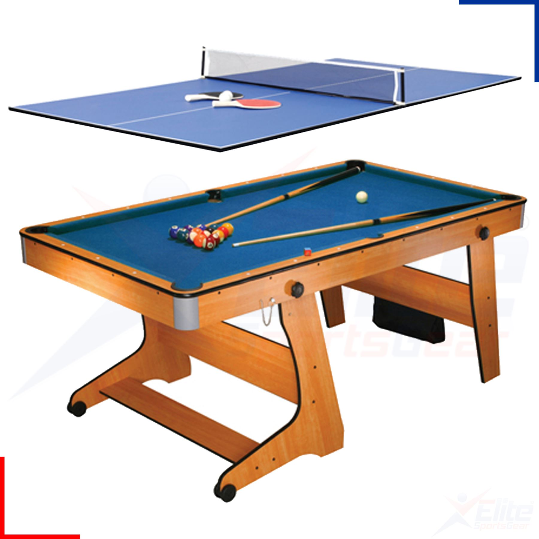 Bce 6ft Pool Tennis Table Dartboard Amp Balls 3 In 1 Games