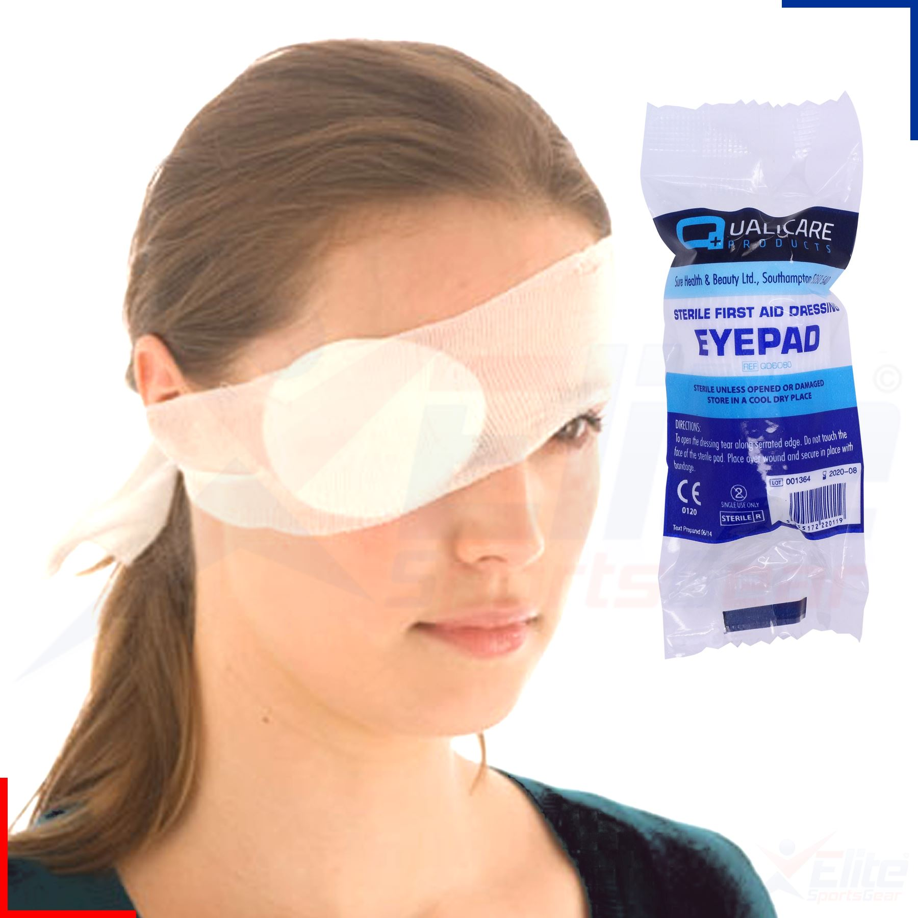 Sterile Bandage Round Eye Patch Dressing Pad First Aid Kit