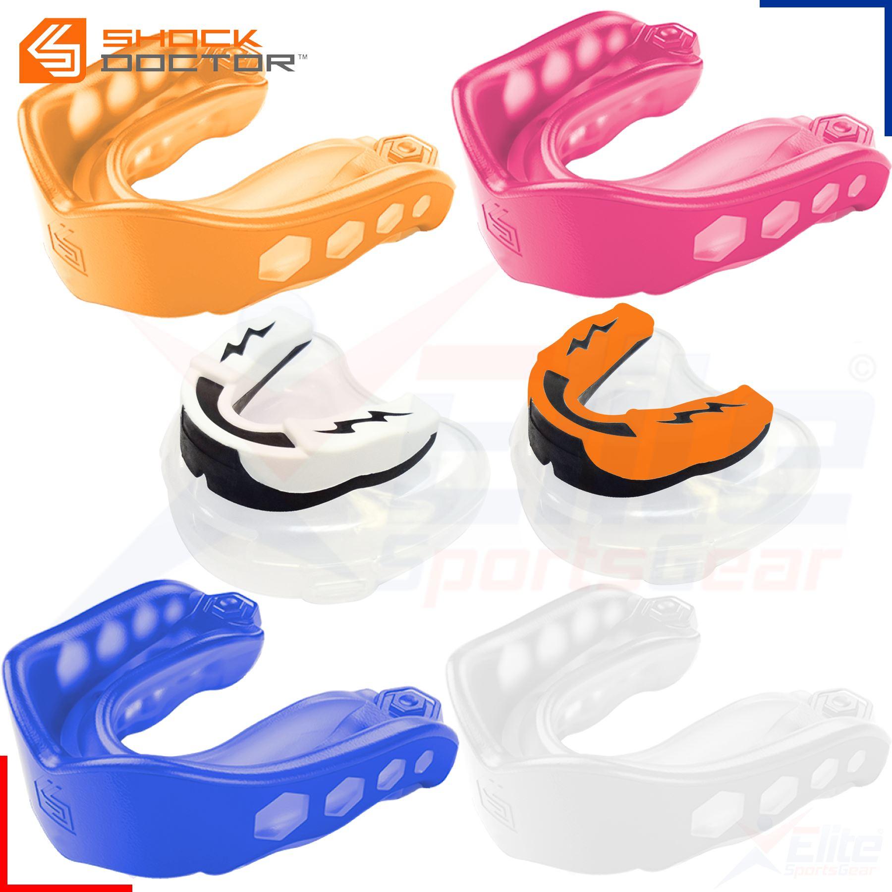 Shock Doctor v2 Gel Max Mouth Guard Mouthguard Gum Shield Orange Pink