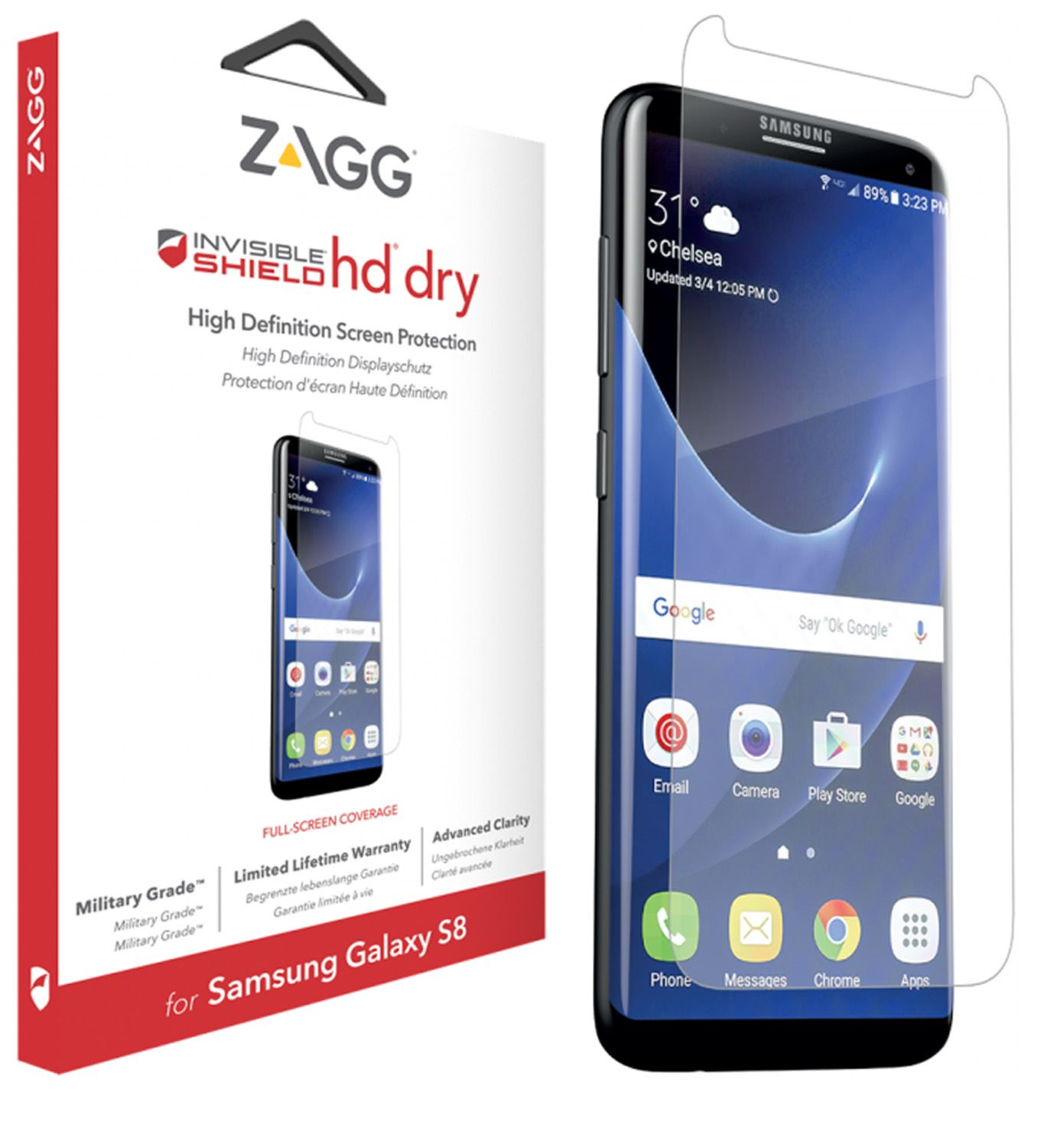 phone also zagg invisibleshield screen protector for samsung galaxy s8