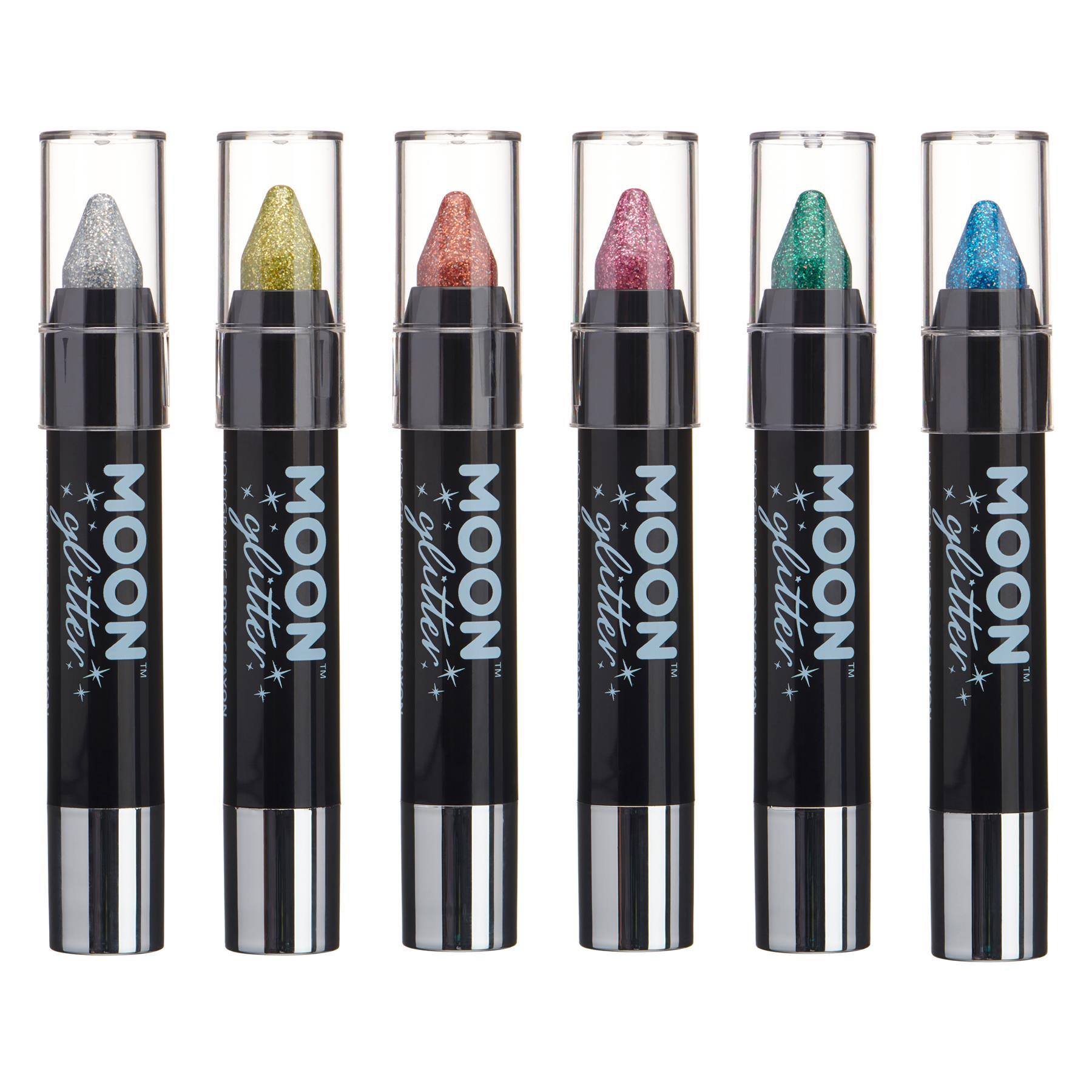 Buono Glitter Olografica Vernice Stick/corpo Crayon Da Moon Glitter - 3.5g - Set Di 6-mostra Il Titolo Originale Con Il Miglior Servizio