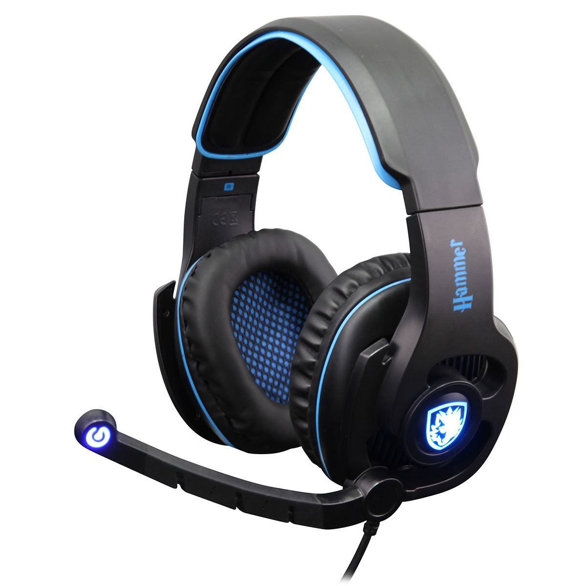 Details About SADES SA 923 Hammer Gaming Headset Blue Virtual 71 Surround Sound 50mm Driver