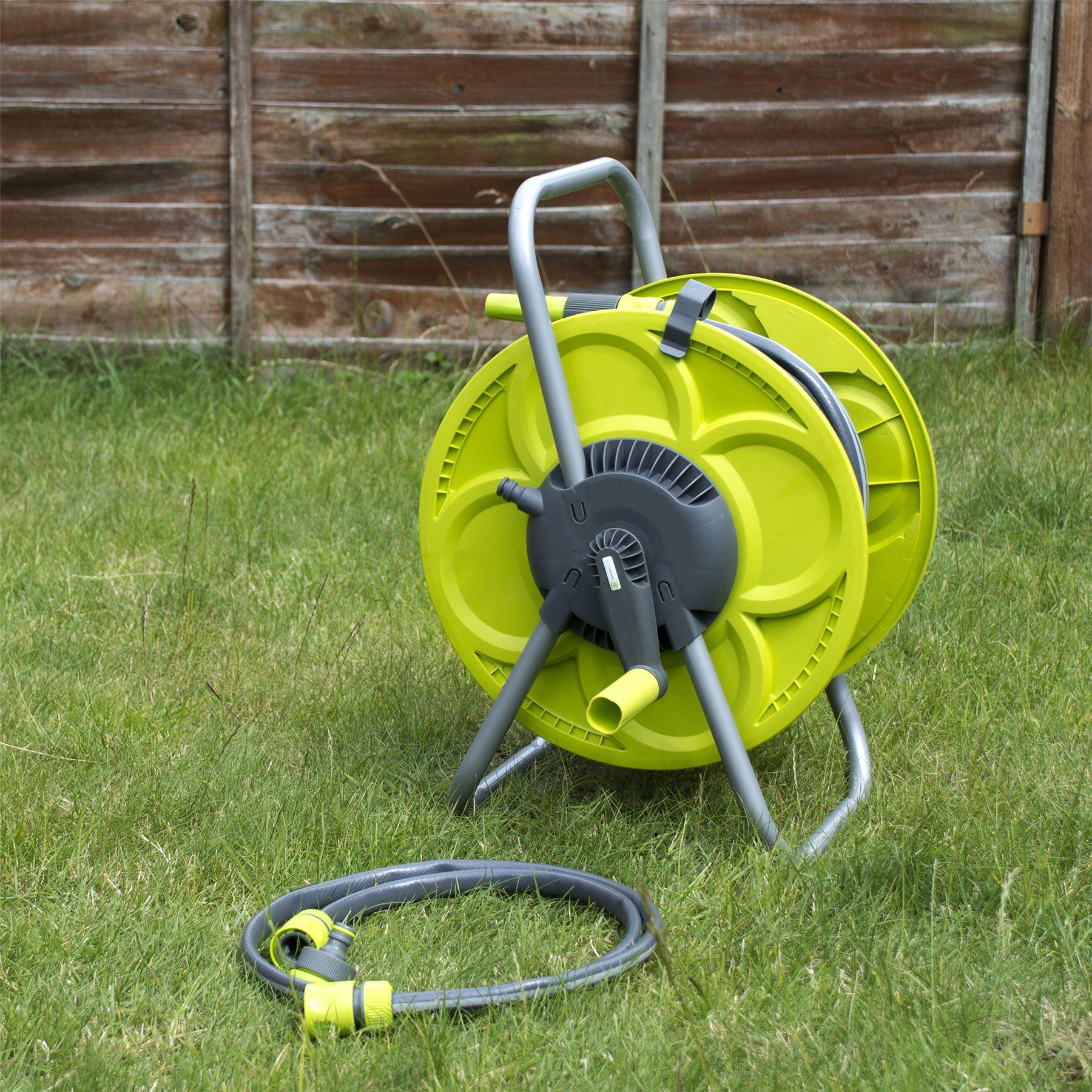 Lot de 30M tuyau /& bobine jardin arrosage tuyau debout winder tube troley panier