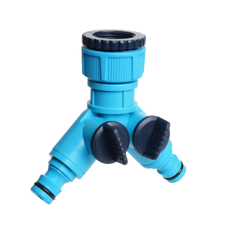 4 vías de distribución de agua de distribución riego de jardín manguera de distribución grifo de agua