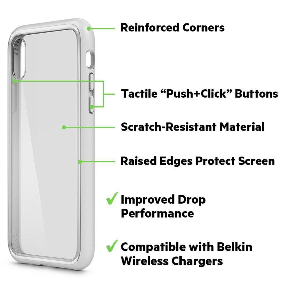 Indexbild 25 - Belkin sheerforce Elite Drop schützende resistente transparente Schutzhülle für iPhone x