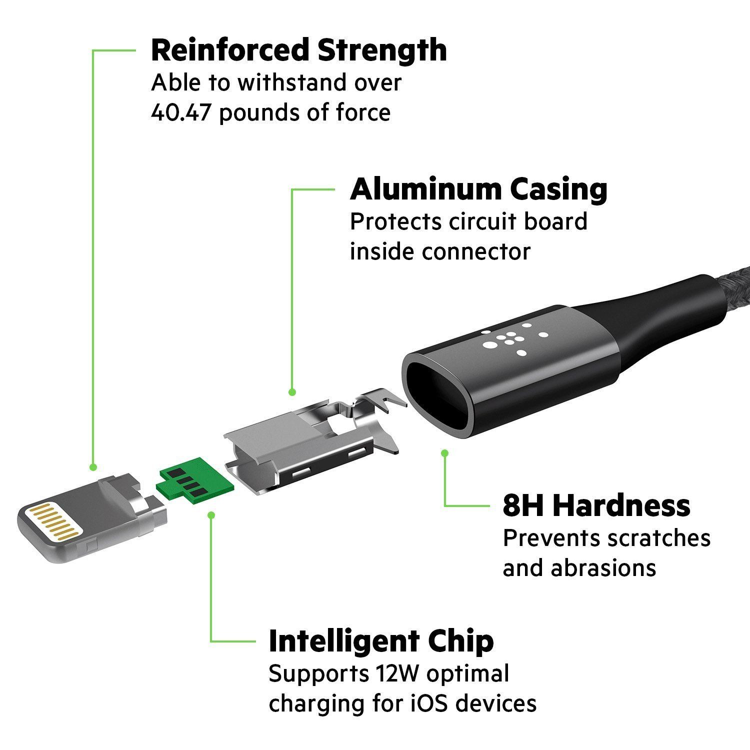 Belkin-DuraTek-Lightning-to-USB-Charge-Sync-Cable-for-iPhone-X-8-8-7-Plus-iPad thumbnail 13