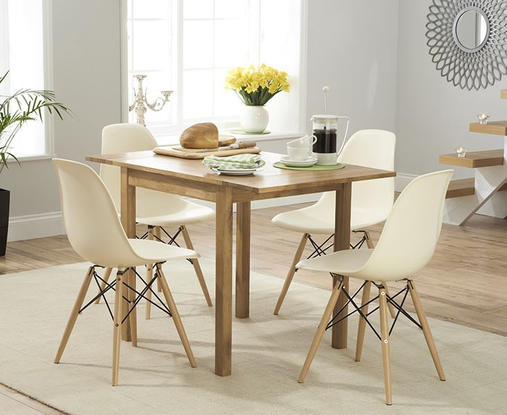 Beau Eiffel Inspired Wooden Legs Office Dining Chairs Retro
