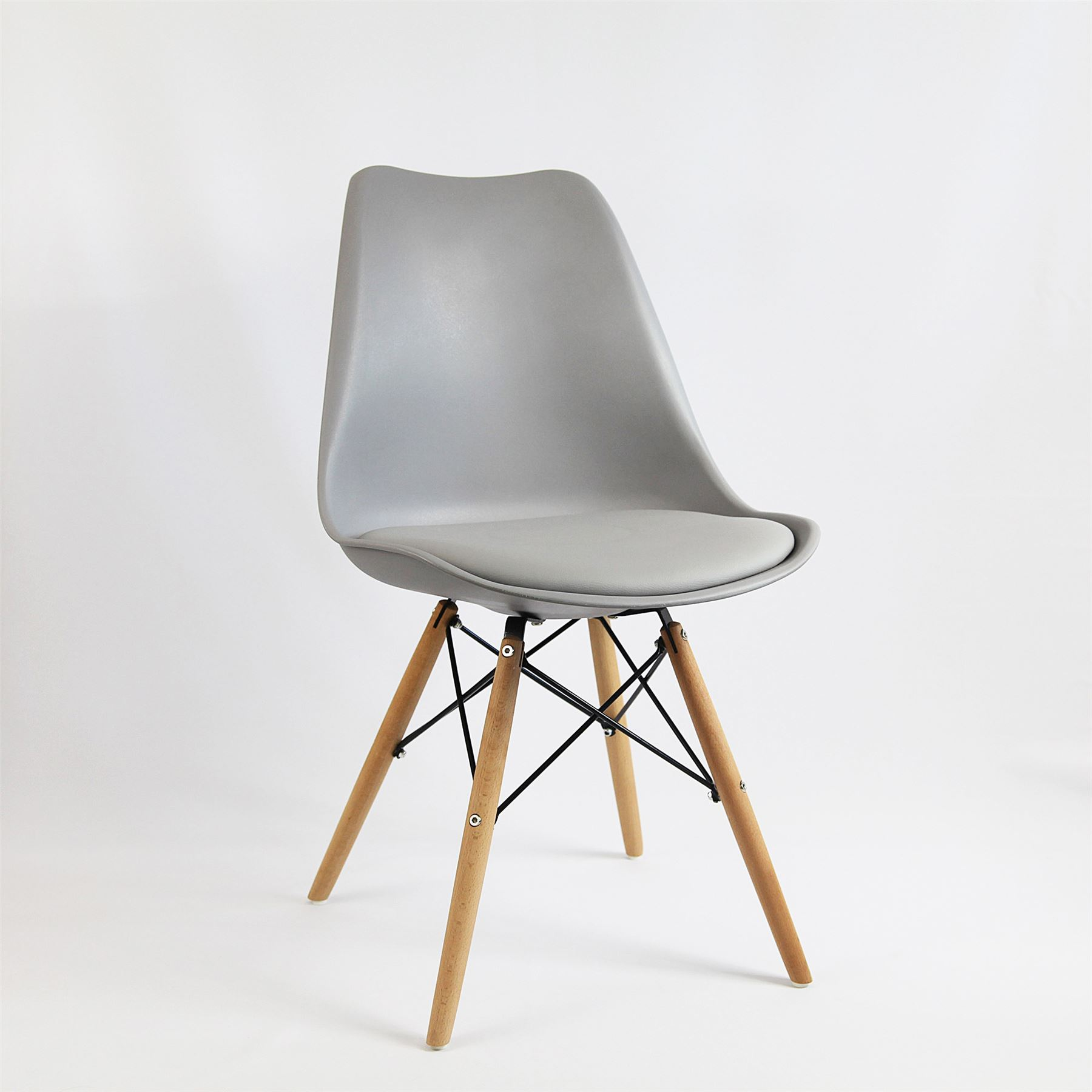 Eiffel inspired mmilo dining chair cushioned contemporary - Natural wood dining chairs ...