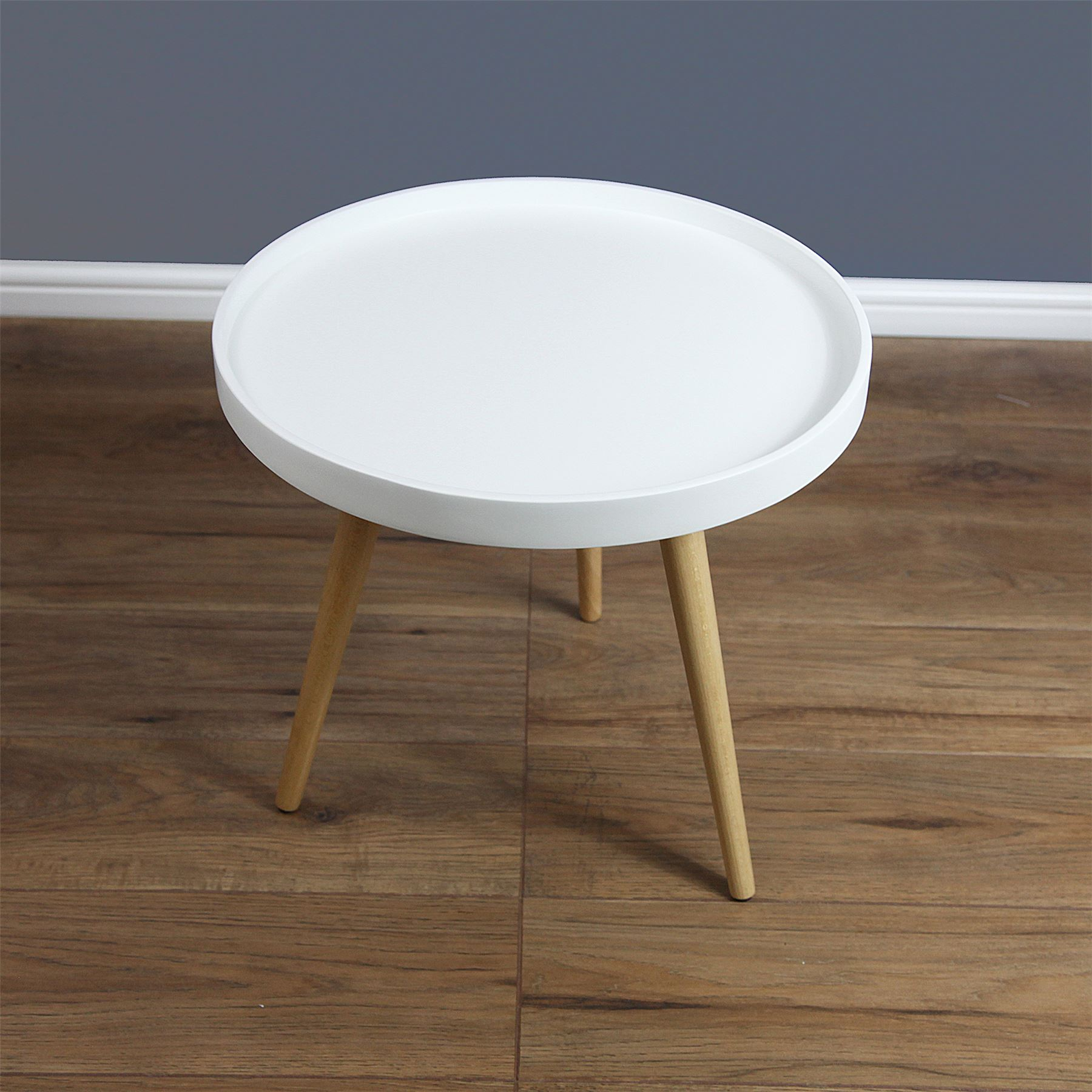 Capri Round Tray Table Coffee Table Solid Wood