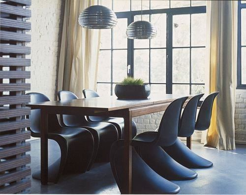 set of 4 panton s chair replica stackable modern dining chair ebay