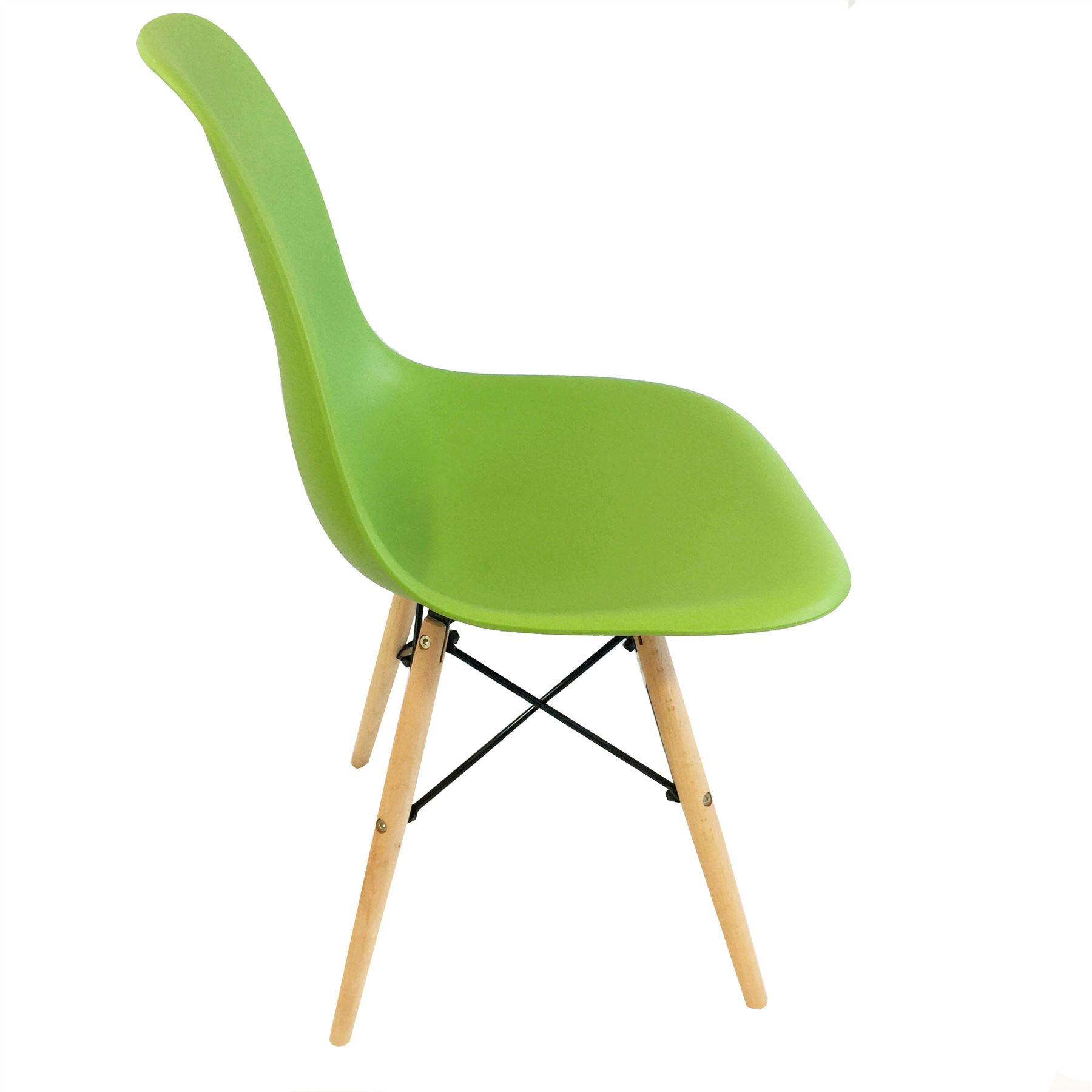 Wonderful Retro Dining Chairs DSW Eiffel Inspired Wooden Legs