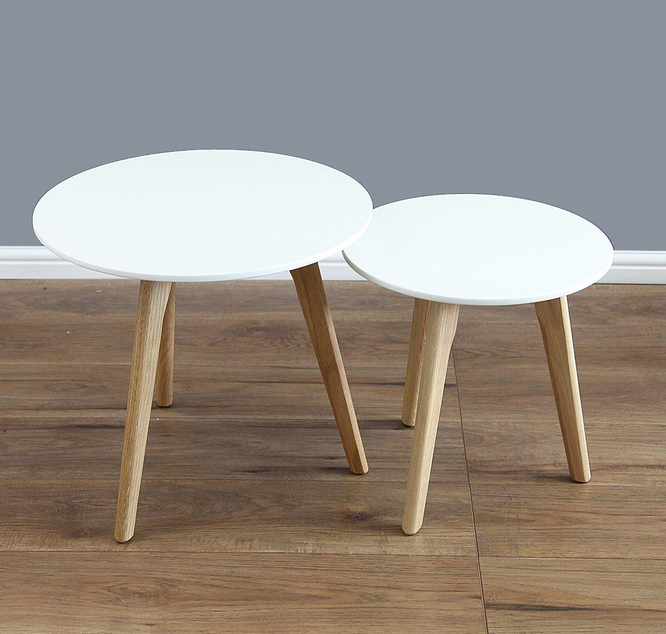 Round Coffee Tables On Ebay: Mmilo® SPIO Nest Round Table Set In Pair. Side/Coffee