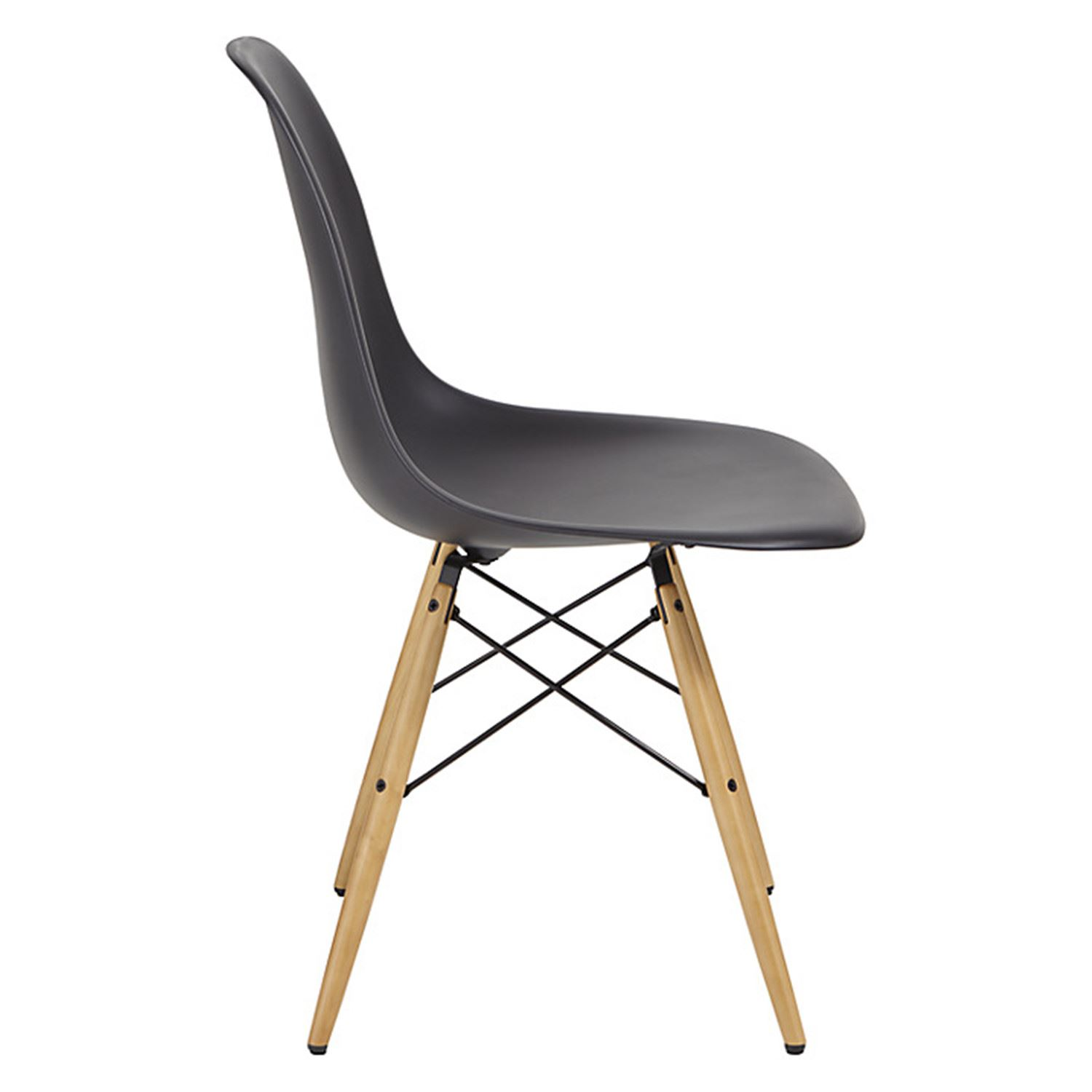 Set of 2 dsw dining chairs eames inspired eiffel wooden for Eames chair england