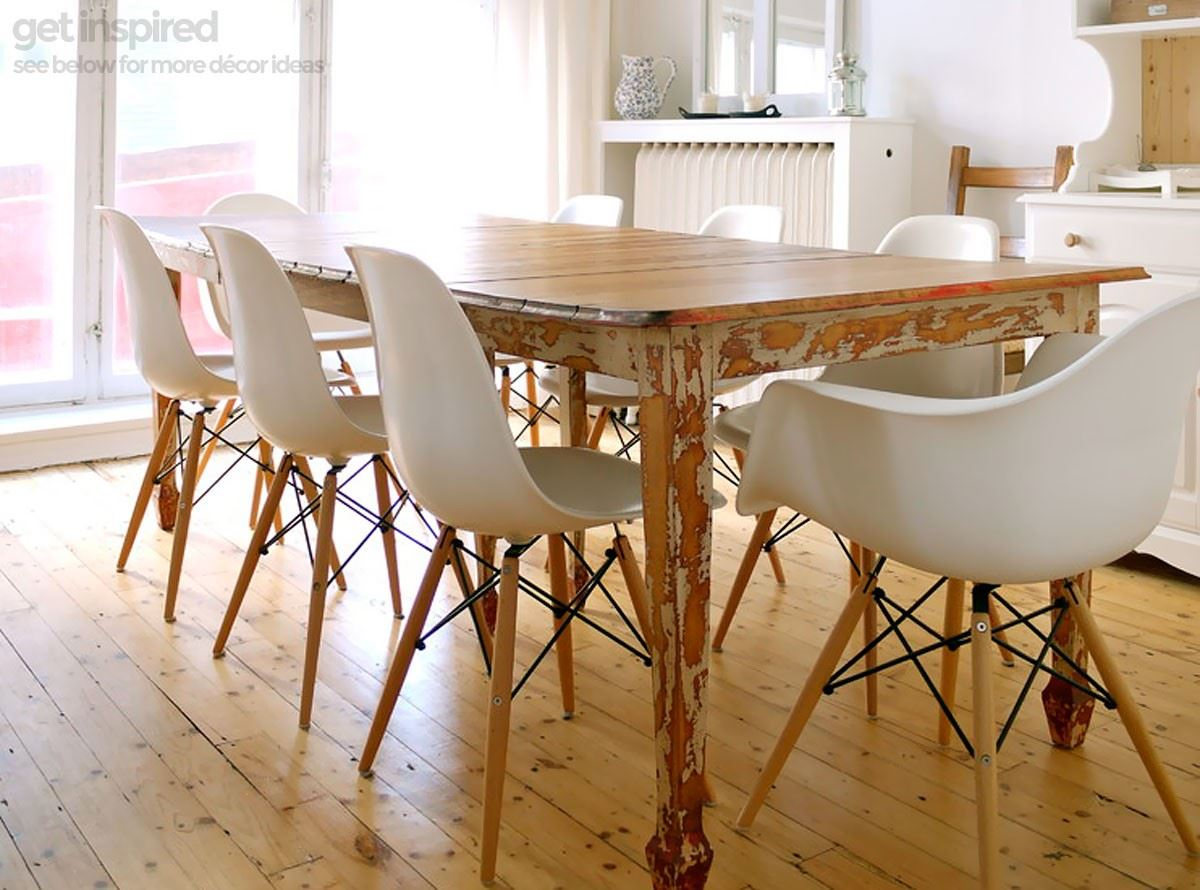 Eames Eiffel Chair Dining Room - Charles ray eames eiffel inspired white daw side dining chair retro in white