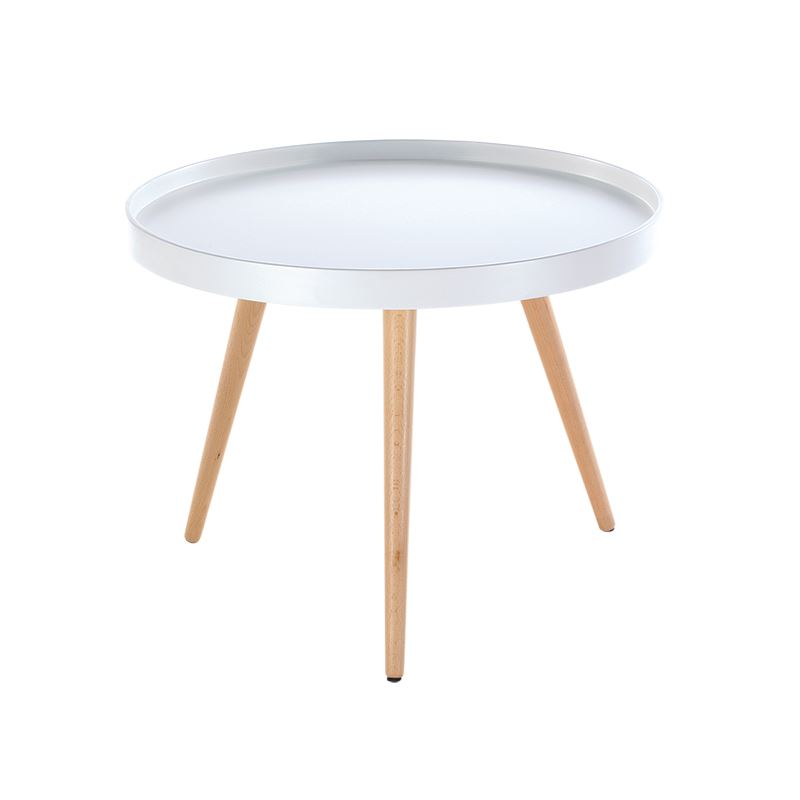 Capri Round Tray Table Coffee Table Solid Wood In 50cm Ebay