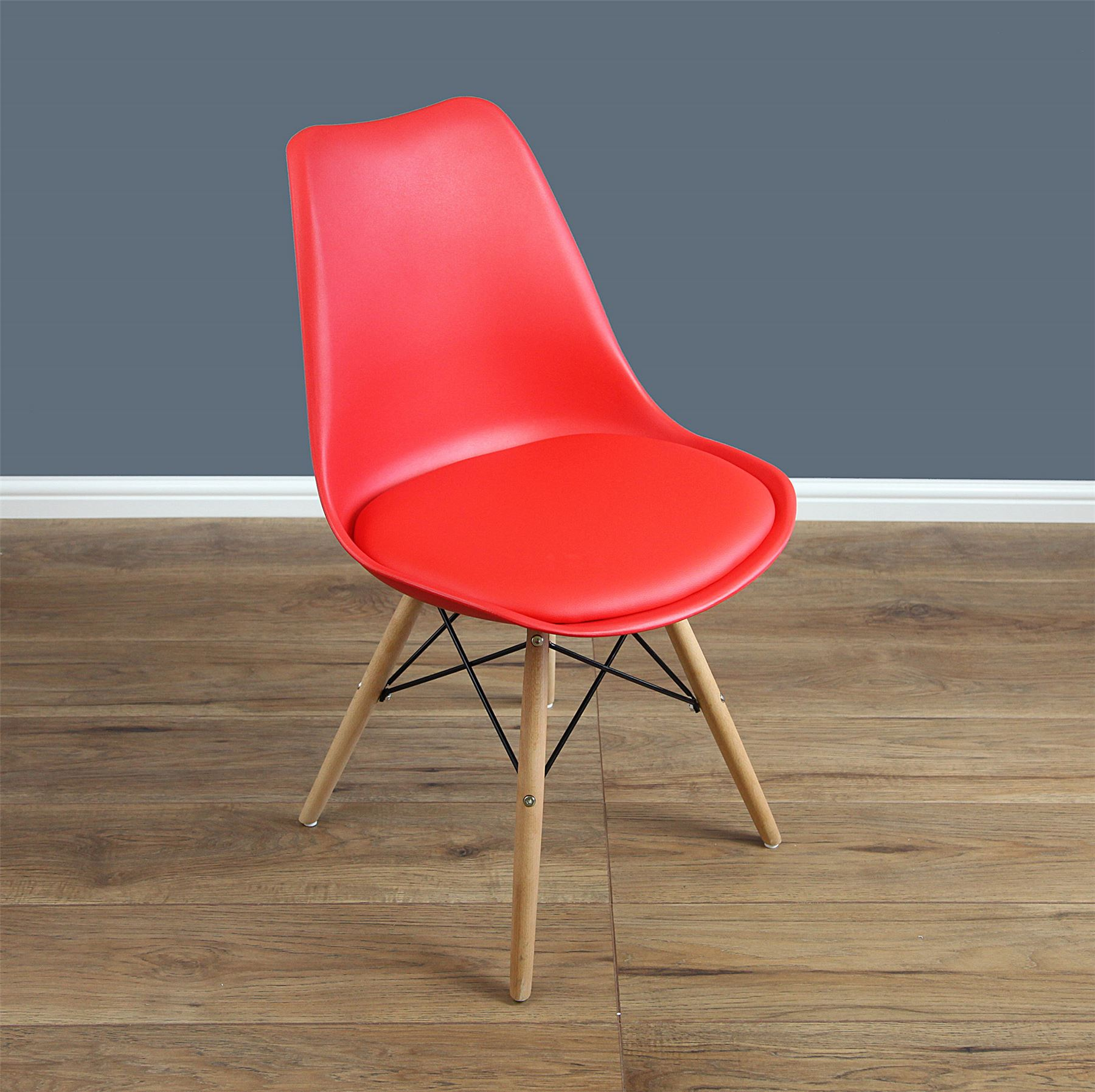 Mmilo Tulip Dining Chair Eiffel inspired Solid Wood Legs with