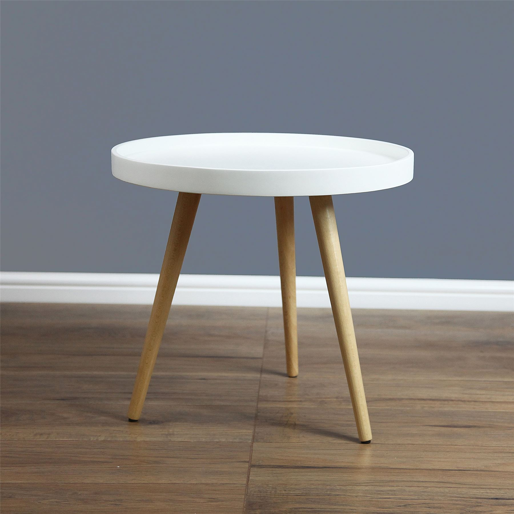 Solid Wood Curved Coffee Table: Capri Round Tray Table Coffee Table Solid Wood In 50cm