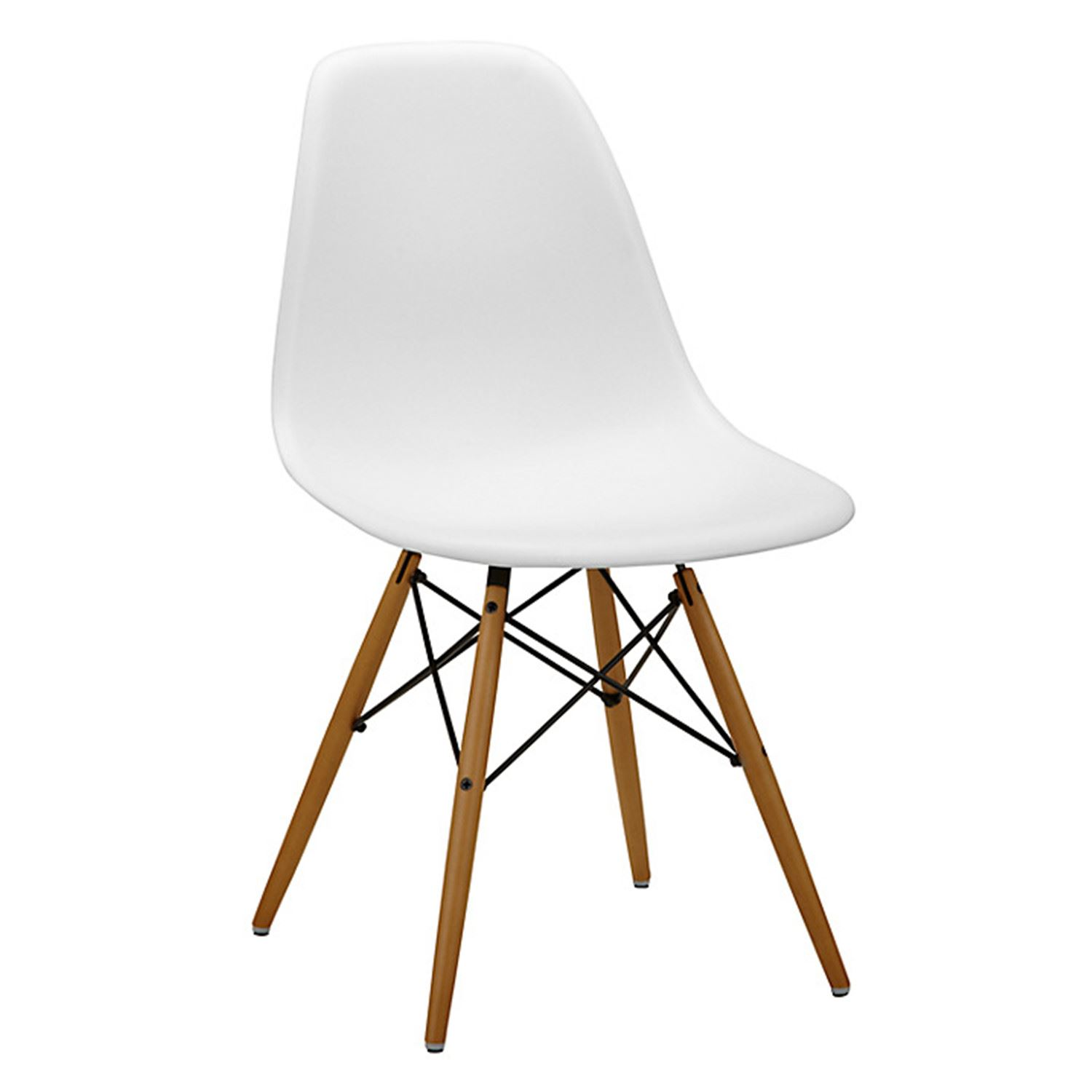 charles ray eames eiffel inspired white dsw dining chair ret
