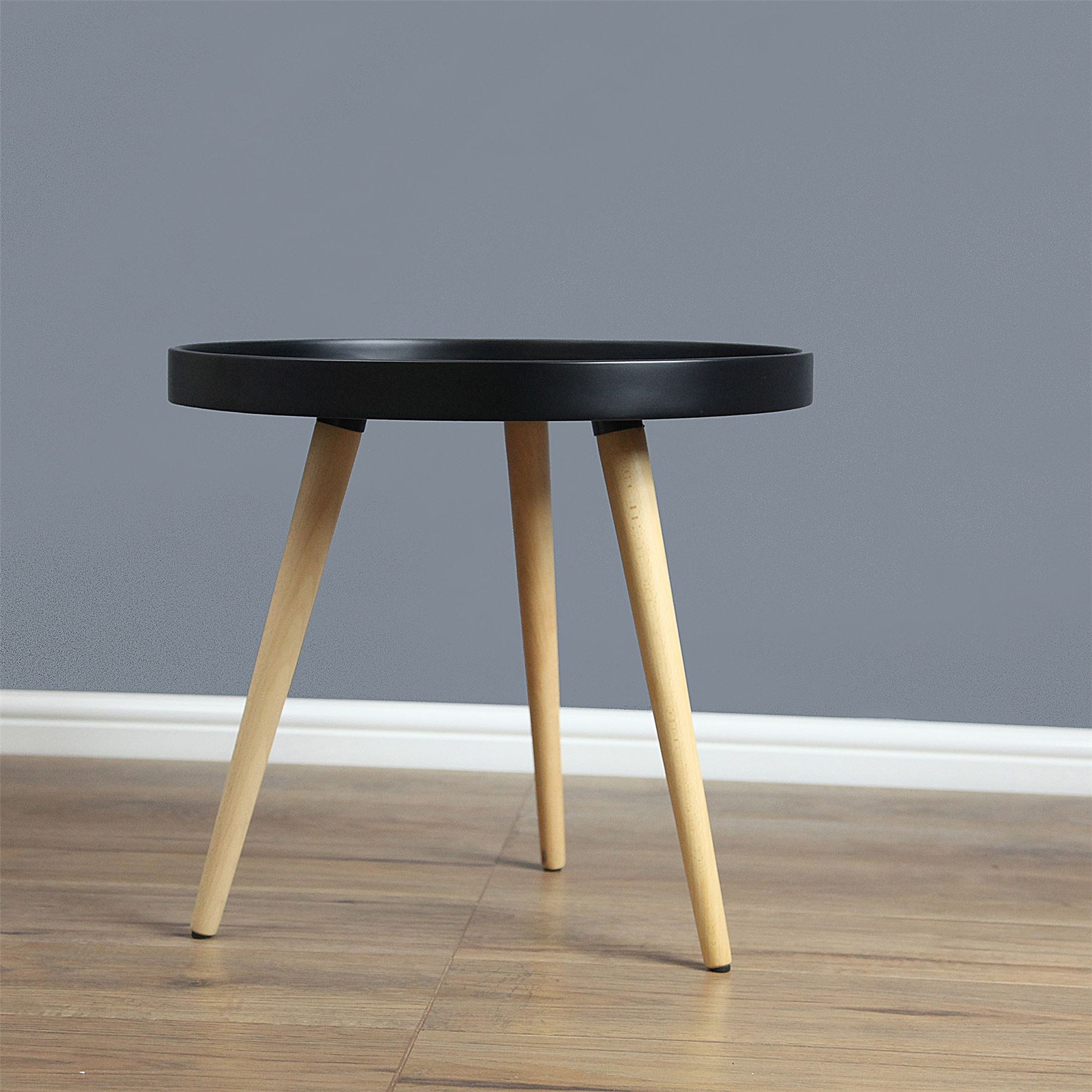 Capri Round Tray Table Coffee Table Solid Wood In 50cm