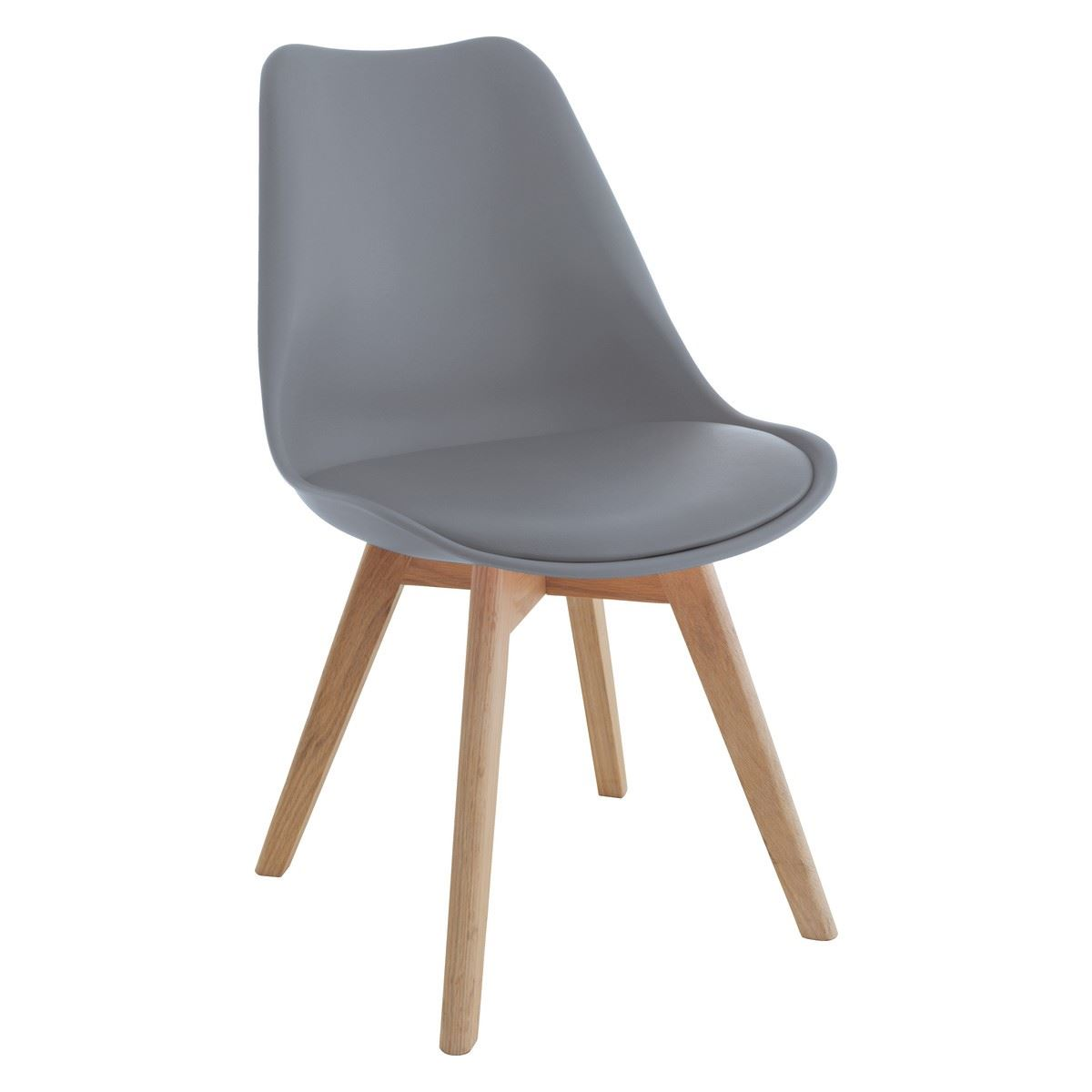Set Of 6 Tulip Dining Chairs With Leather