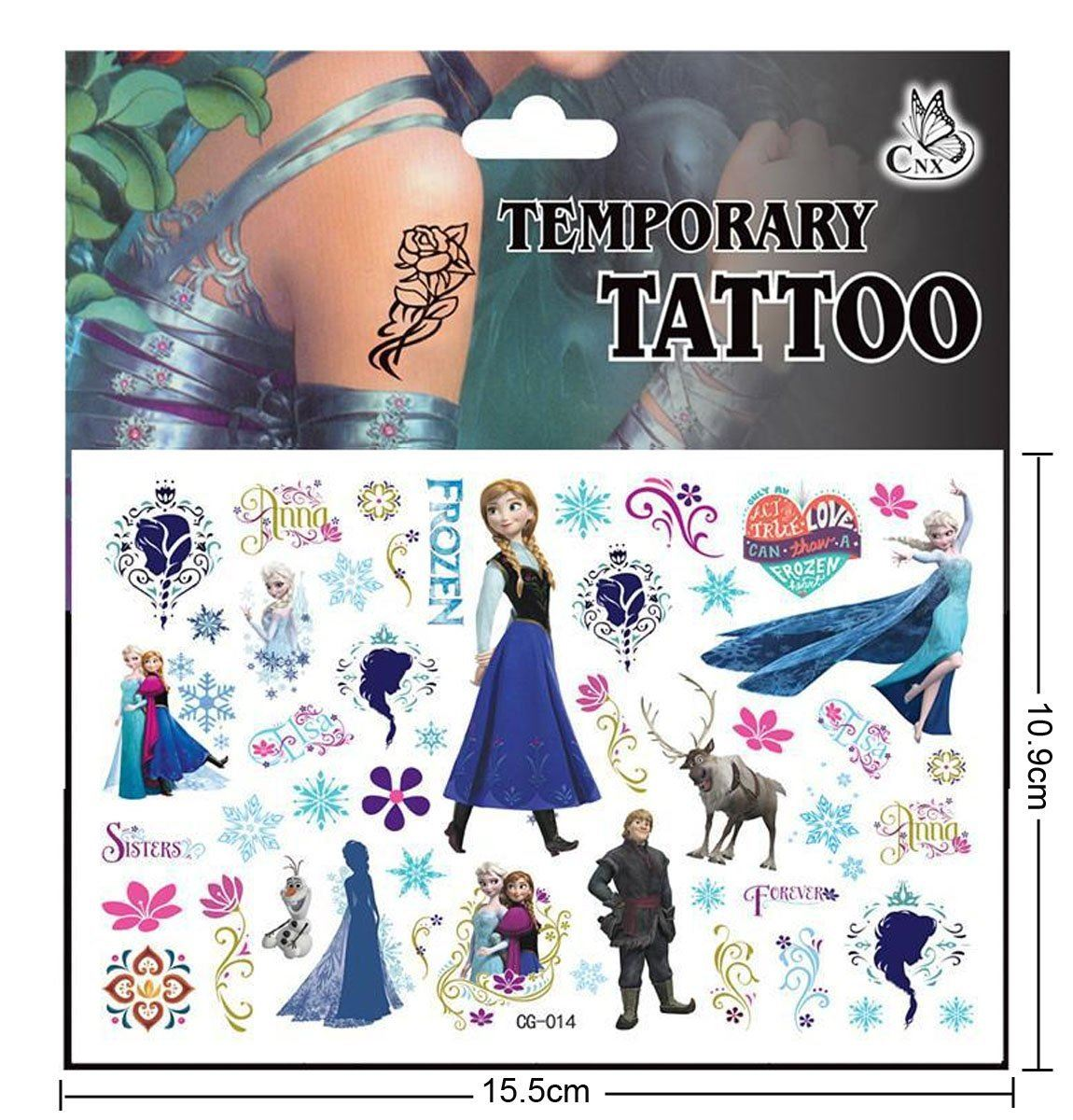 TATTOOS Kids Party Tattoo Various Designs Quick Easy Safe