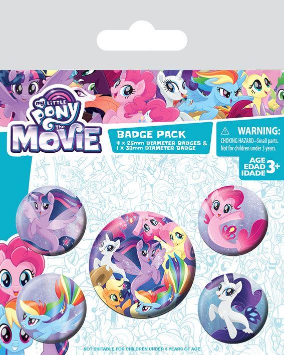 25mm Cartoon Character badges set of 4 My Little Pony badges Retro