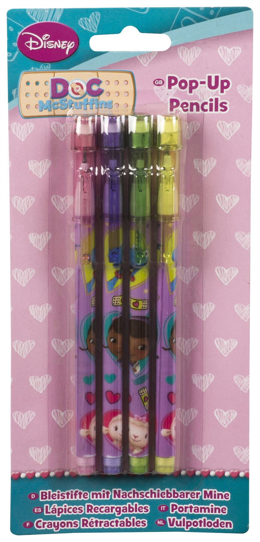 4-x-POP-UP-PENCILS-Character-Party-Bag-Fillers-School-Pencil-Case-Single-Pack