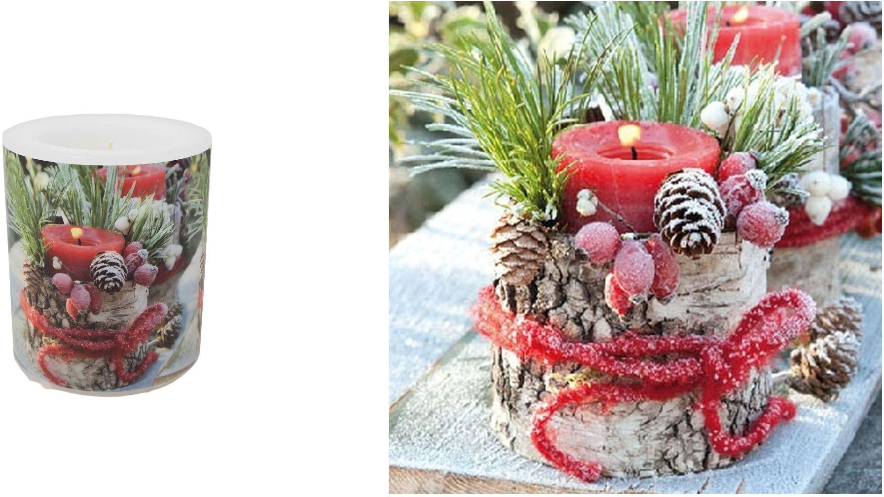 2 Pce Set Christmas Dinner Table Napkins Candle 3ply Paper Wax Acorns Florals Ebay