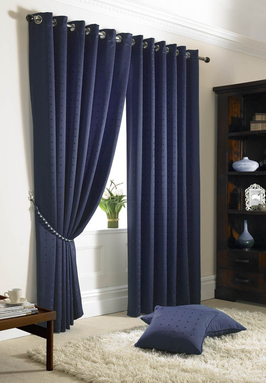scarves products sheer warm home indigo window royal premium full designs curtain or rod pocket navy curtains blue