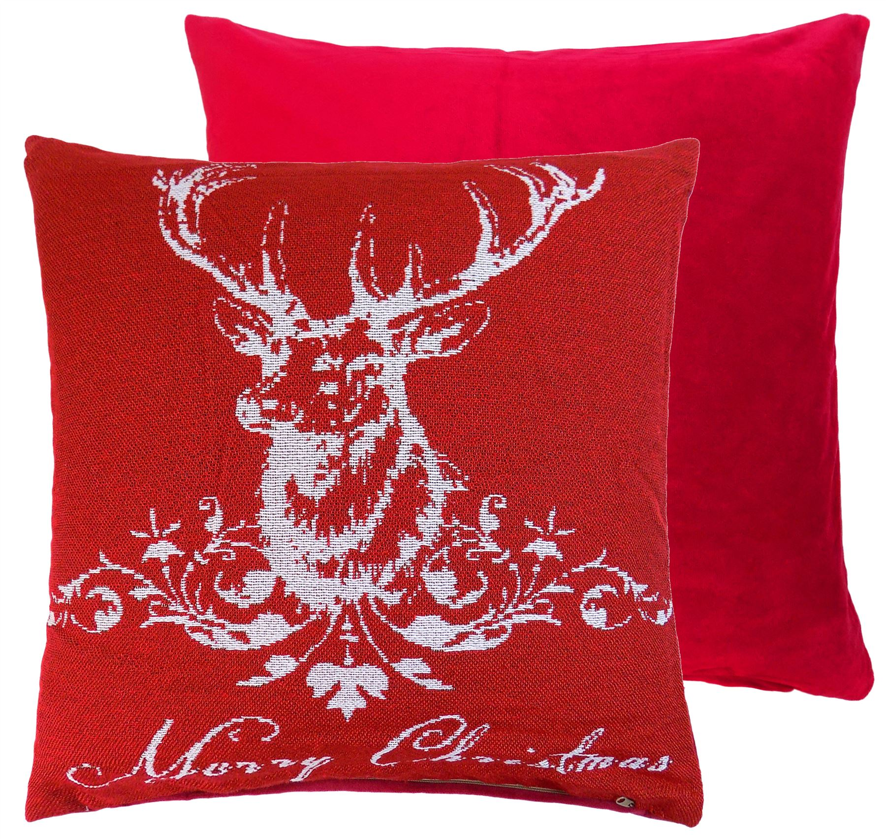 Tartan deer stag-Imprimé housses de coussin oreiller cas home decor ou intérieure