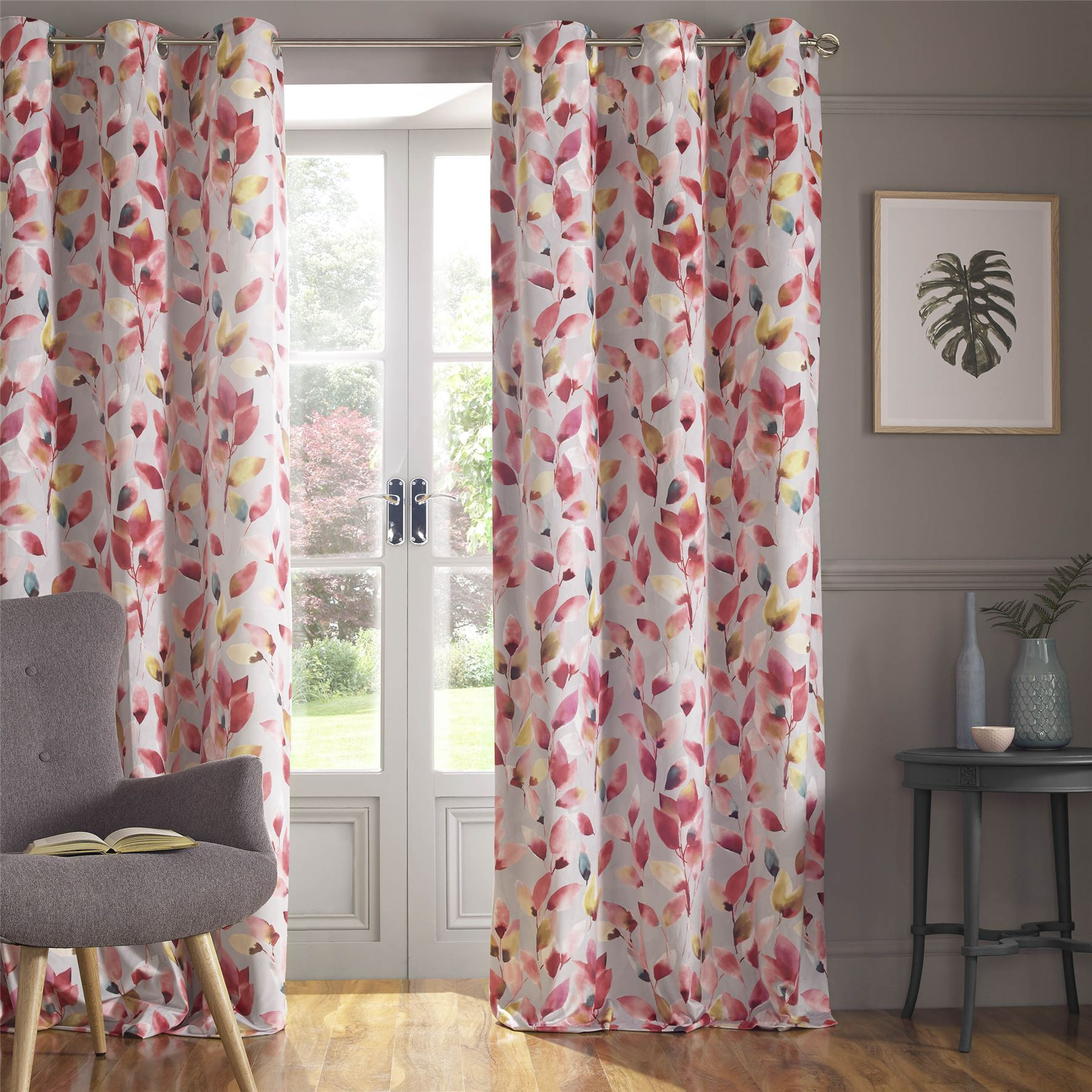 PINK GREY WHITE YELLOW GREEN FLORAL VELVET LINED