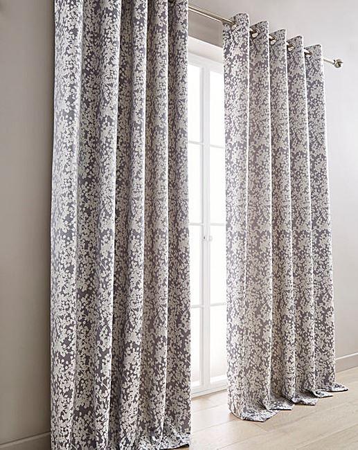 cream and madison eyelet curtains gray