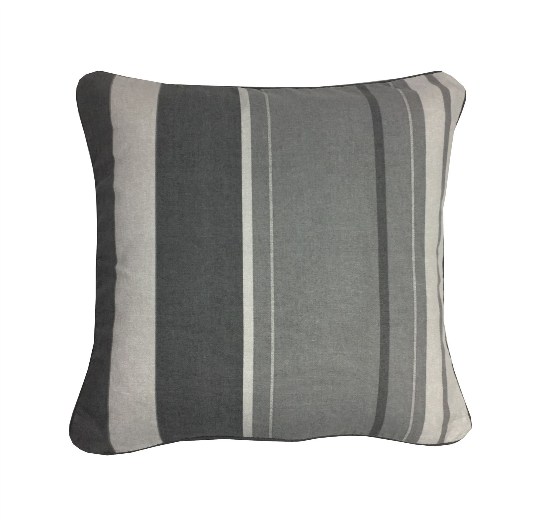 "VERTICAL STRIPE YELLOW GREY BEIGE PIPED 17/"" 43CM CUSHION COVER"