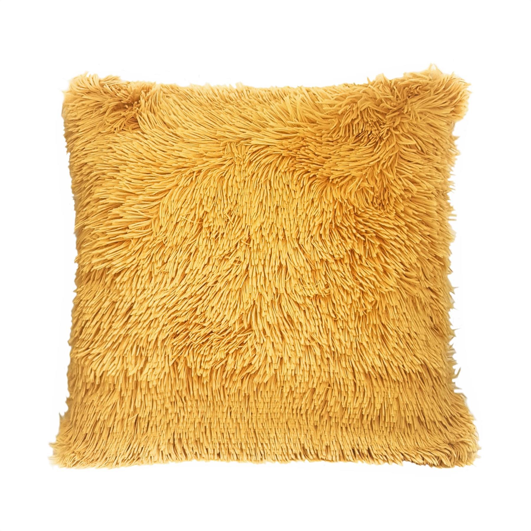 "2x 17/"" 43cm Soft Plush Grey Blue Red Ivory Faux Fur Chevron Cushion Covers Home"