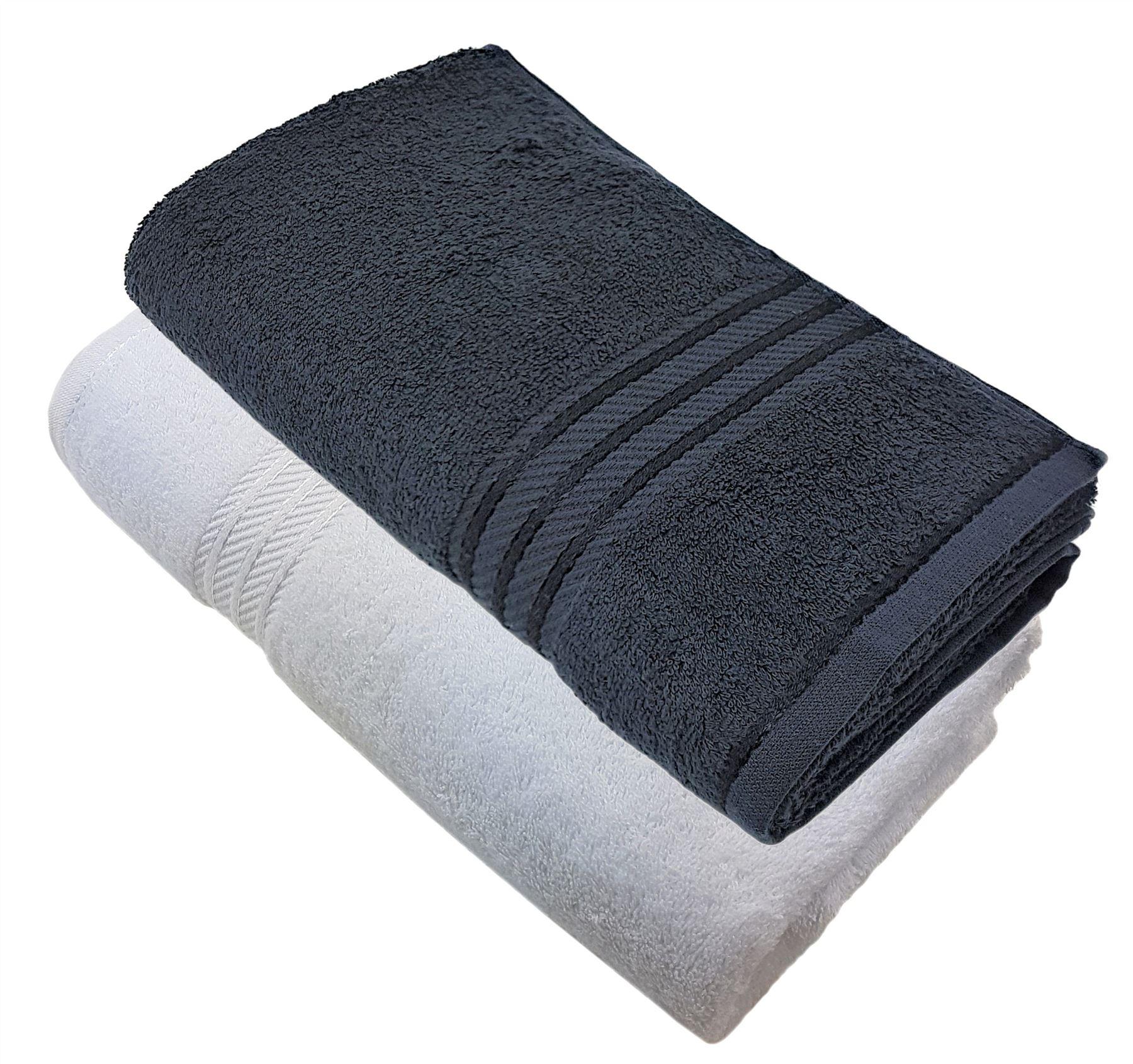 600 g//m² Serviette de bain LUXOR en coton égyptien noir