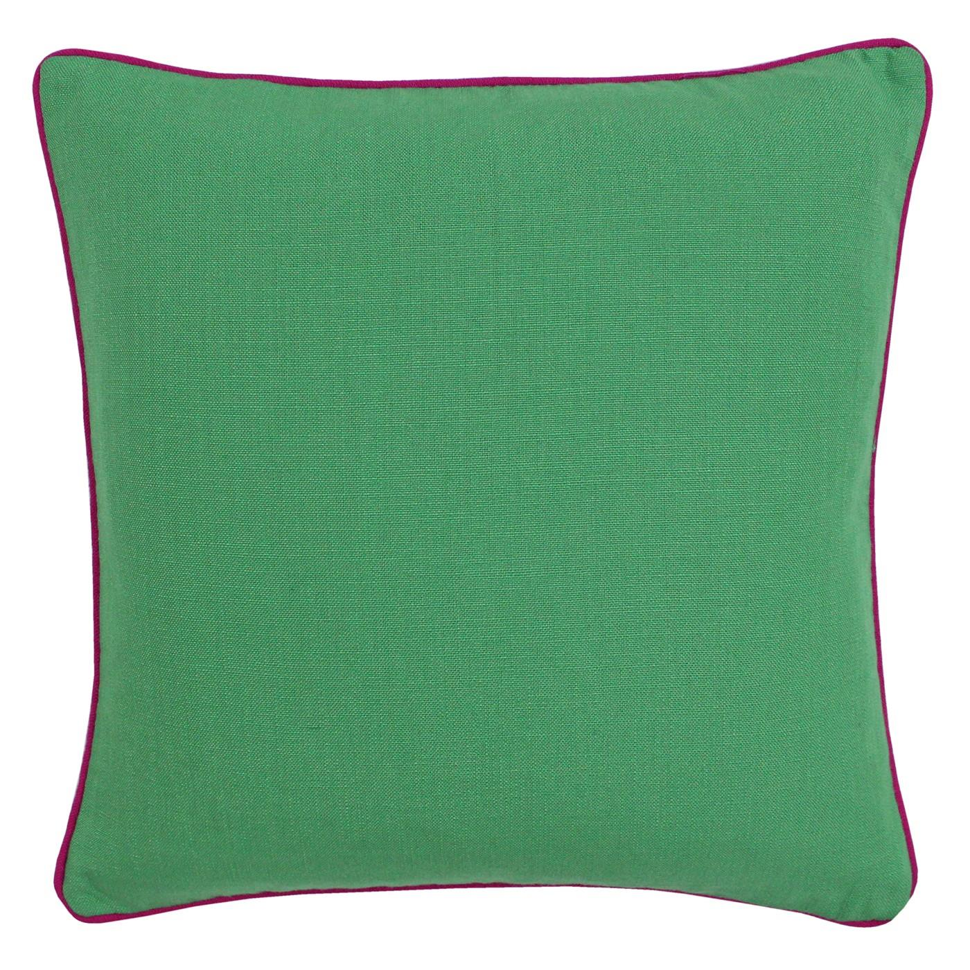 """2 x Bright Woven thick Piped Emerald Green Pink Cushion Covers 18/"""""""