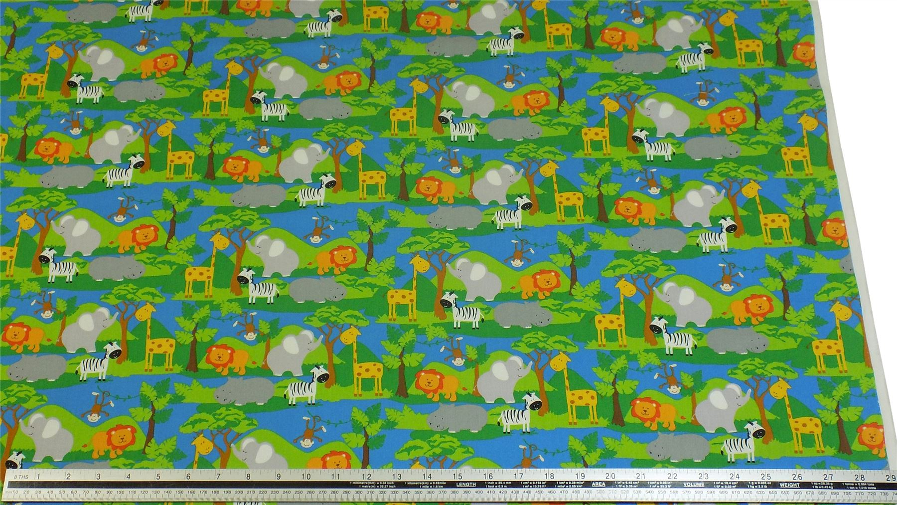 Natural History Green Jungle Fabric Material COTTON Crafts Quilting Sewing 1M